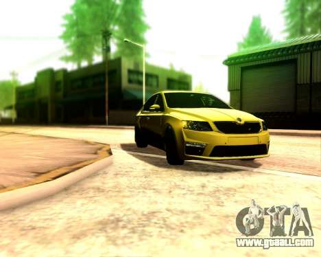 Skoda Octavia A7 RS for GTA San Andreas right view