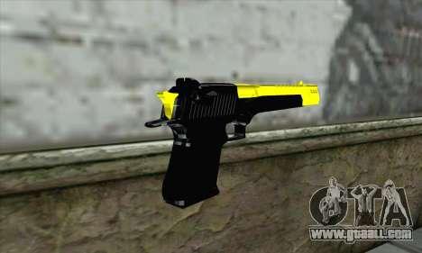 Yellow Desert Eagle for GTA San Andreas second screenshot