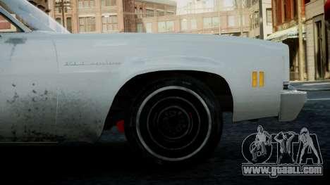 Chevrolet El Camino 1973 Old for GTA 4 back view
