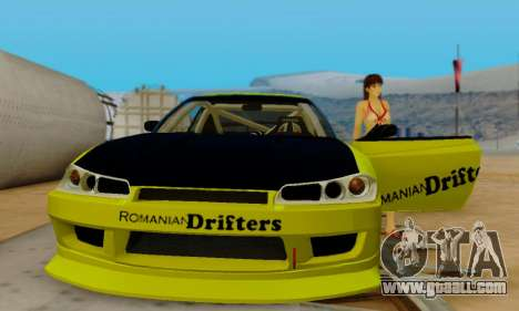 Nissan Silvia S15 Romanian Drifters for GTA San Andreas upper view