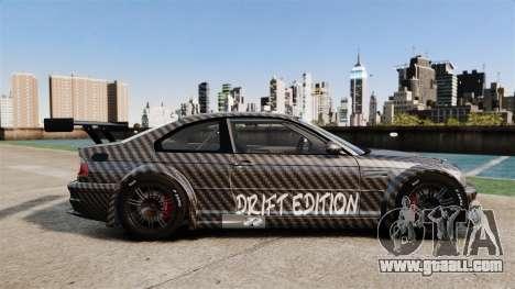 BMW M3 GTR 2012 Drift Edition for GTA 4 left view