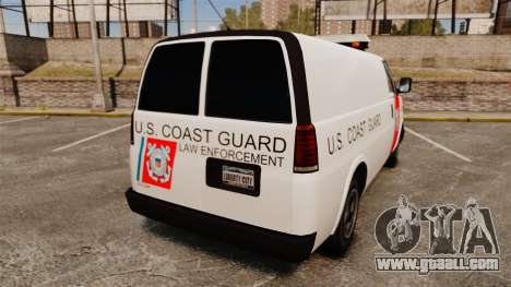 Vapid Speedo U.S. Coast Guard for GTA 4 back left view