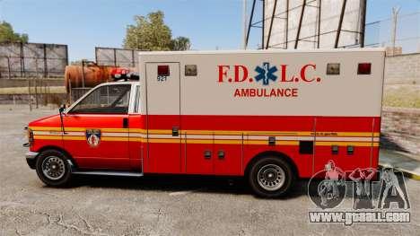 Brute FDLC Ambulance for GTA 4 left view