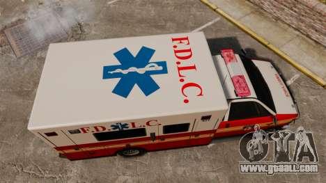 Brute FDLC Ambulance for GTA 4 right view