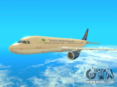 Airbus A320-200 Saudi Arabian for GTA San Andreas