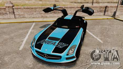 Mercedes-Benz SLS 2014 AMG Black Series Area 27 for GTA 4 upper view