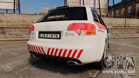 Audi S4 Avant Hungarian Police [ELS] for GTA 4 back left view