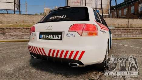 Audi S4 Avant Hungarian Police [ELS] for GTA 4 back left view