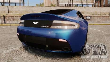 Aston Martin V12 Vantage S 2013 for GTA 4 back left view
