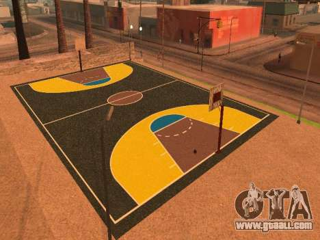 New basketball court for GTA San Andreas fifth screenshot
