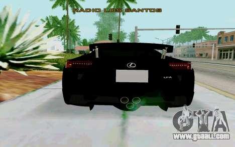 Lexus LFA Street Edition Djarum Black for GTA San Andreas back left view