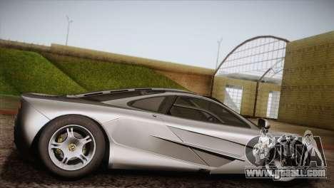 McLaren F1 for GTA San Andreas left view