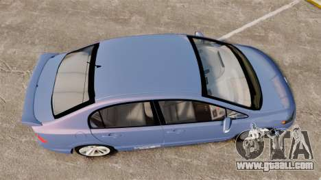 Honda Civic Si 2008 for GTA 4 right view