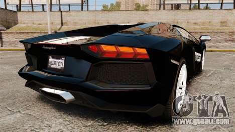 Lamborghini Aventador LP700-4 2012 [EPM] NFS for GTA 4 back left view