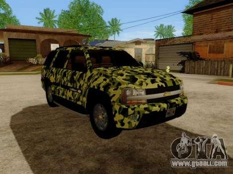 Chevrolet TrailBlazer Army for GTA San Andreas left view