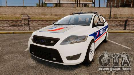 Ford Mondeo IV Wagon Police Nationale [ELS] for GTA 4