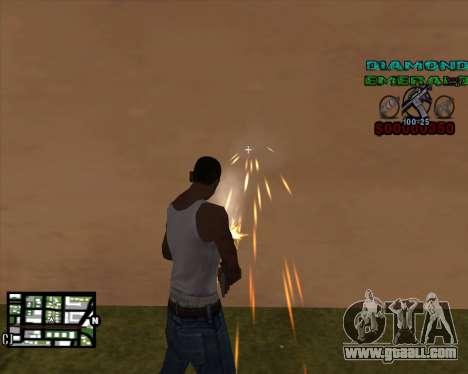 C-HUD Diamond Emerald for GTA San Andreas second screenshot