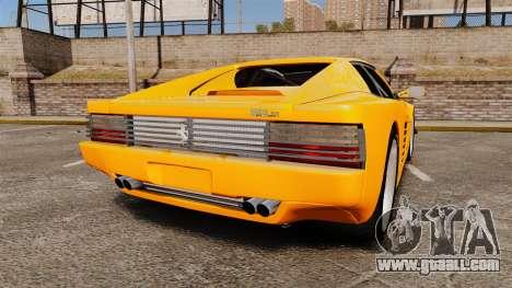 Ferrari Testarossa 512 TR v2.0 for GTA 4 back left view