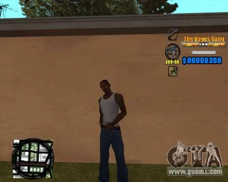 C-HUD Los Santos Vagos Gang for GTA San Andreas second screenshot