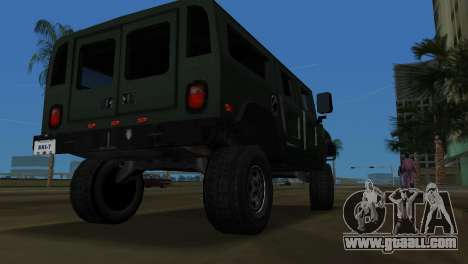 Hummer H1 Wagon for GTA Vice City right view