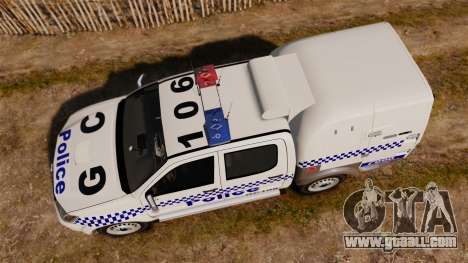 Toyota Hilux Police Western Australia for GTA 4 right view