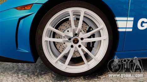 Lamborghini Gallardo Gendarmerie National [ELS] for GTA 4 back view