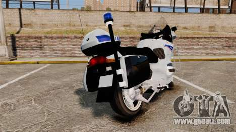 BMW R1150RT Police nationale [ELS] v2.0 for GTA 4 back left view