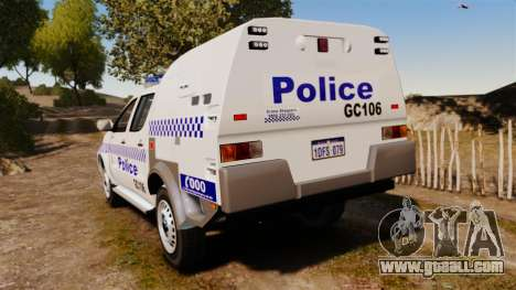 Toyota Hilux Police Western Australia for GTA 4 back left view