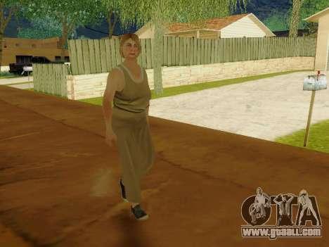 Elderly woman for GTA San Andreas sixth screenshot