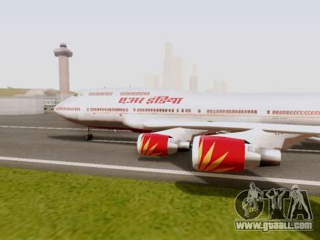 Boeing 747 Air India for GTA San Andreas left view