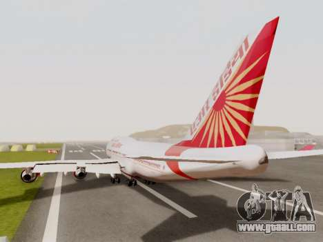 Boeing 747 Air India for GTA San Andreas back view