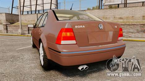 Volkswagen Bora 1.8T Camel for GTA 4 back left view