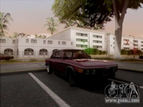 BMW 3.0 CSL 1971 for GTA San Andreas back left view