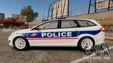 Ford Mondeo IV Wagon Police Nationale [ELS] for GTA 4 left view