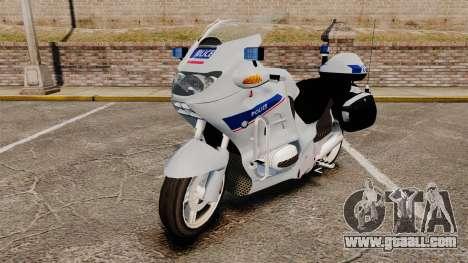 BMW R1150RT Police nationale [ELS] v2.0 for GTA 4