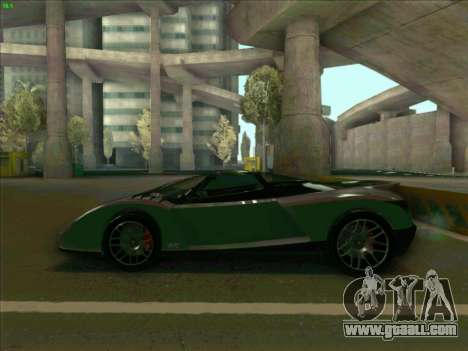 Cheetah Grotti GTA V for GTA San Andreas left view