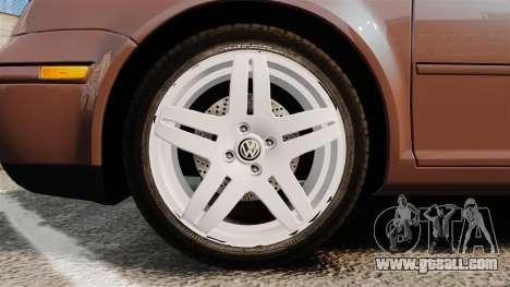 Volkswagen Bora 1.8T Camel for GTA 4 back view