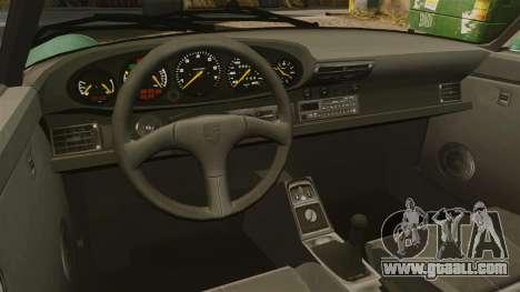 Porsche 911 Speedster for GTA 4 inner view