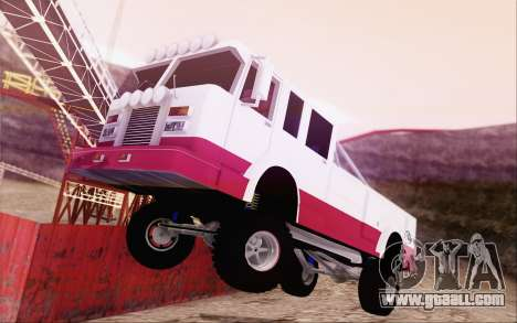 Offroad Firetruck for GTA San Andreas left view