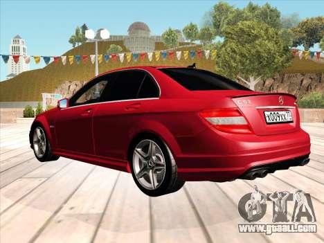 Mercedes-Benz C63 AMG HQLM for GTA San Andreas left view