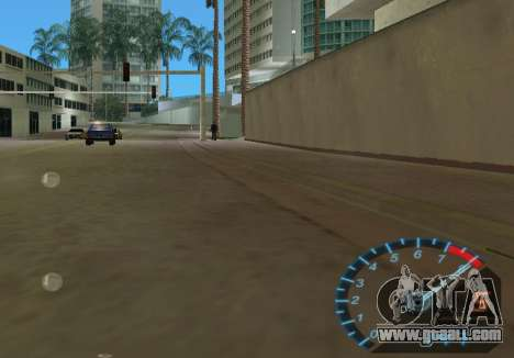The speedometer from NFS Underground for GTA Vice City fifth screenshot