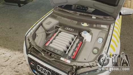 Audi S4 Avant Hungarian Police [ELS] for GTA 4 inner view