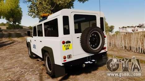 Land Rover Defender AFA [ELS] for GTA 4 back left view