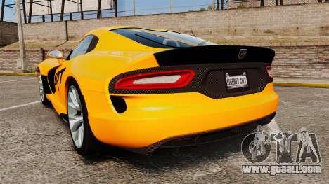 Dodge Viper SRT GTS 2013 for GTA 4 back left view