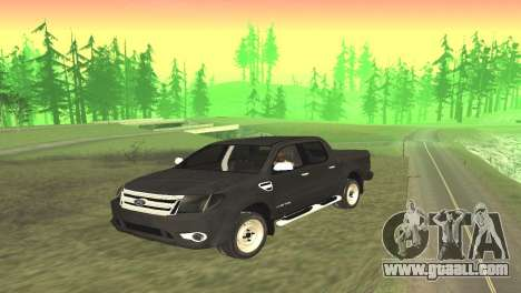 Ford Ranger Limited 2014 for GTA San Andreas back left view