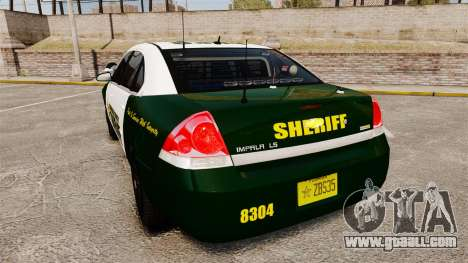 Chevrolet Impala 2010 Broward Sheriff [ELS] for GTA 4 back left view
