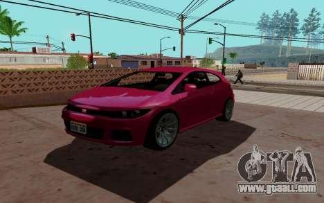 Dinka Blista GTA V for GTA San Andreas