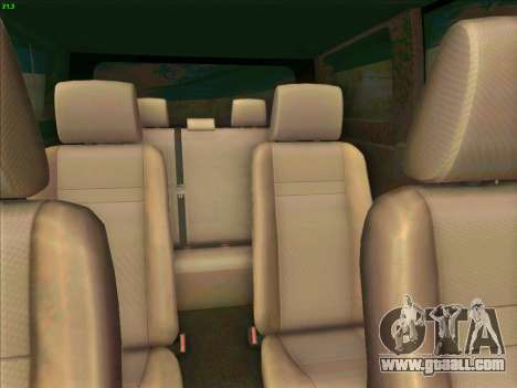 Toyota Alphard for GTA San Andreas inner view