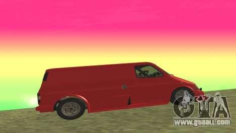 Ford Transit Supervan 3 Custom for GTA San Andreas back view