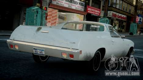 Chevrolet El Camino 1973 Old for GTA 4 right view